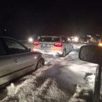 Εθνική οδός Ηρακλείου Ρεθύμνου-Το χαλάζι ξεπερνά τους 15 πόντους