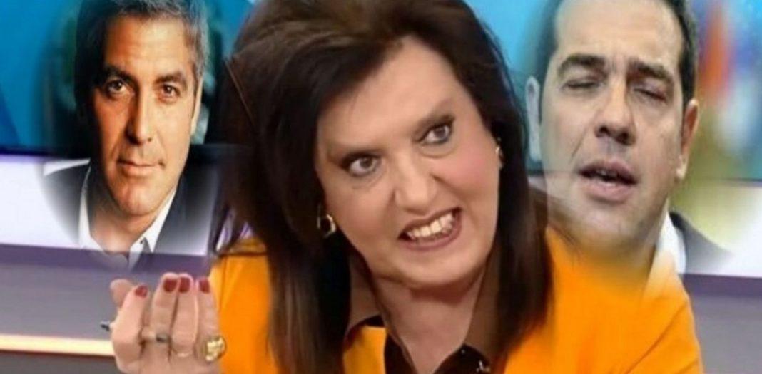 Θοδώρα Μεγαλοοικονόμου.Όταν ο Πέτρος Κωστόπουλος τη ρώτησε αν θεωρεί τον Αλέξη Τσίπρα ωραίο άνδρα