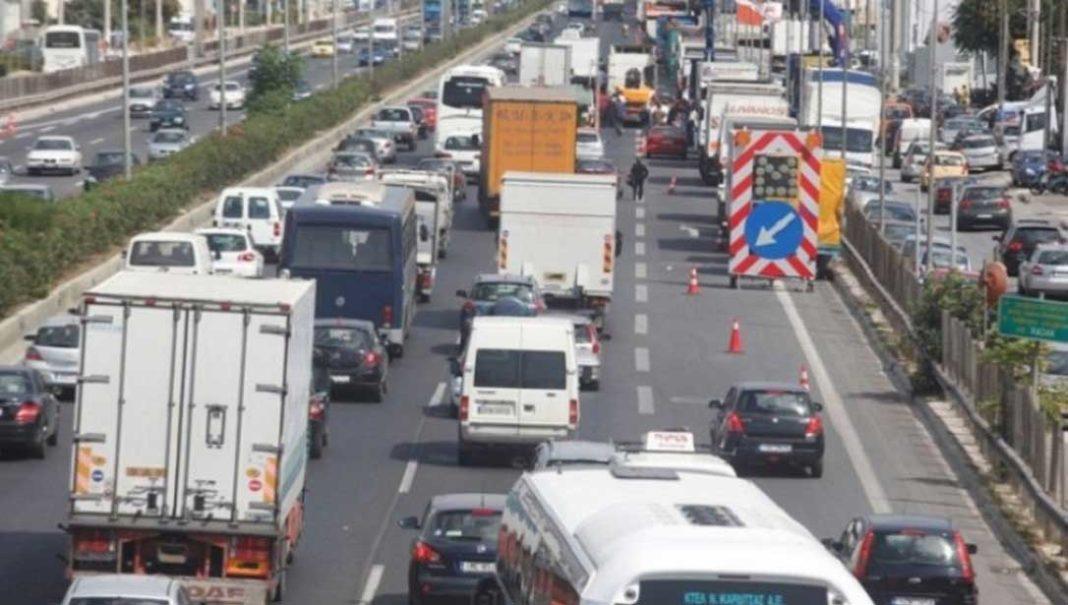 μποτιλιάρισμα Ταλαιπωρία για τους οδηγούς που βρίσκονται στην άνοδο της εθνικής οδού Αθηνών-Λαμίας, καθώς