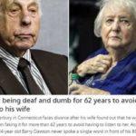 62 χρόνια για να γλιτώσει από την γκρίνια της συζύγου του...Παρίστανε τον κουφό !!