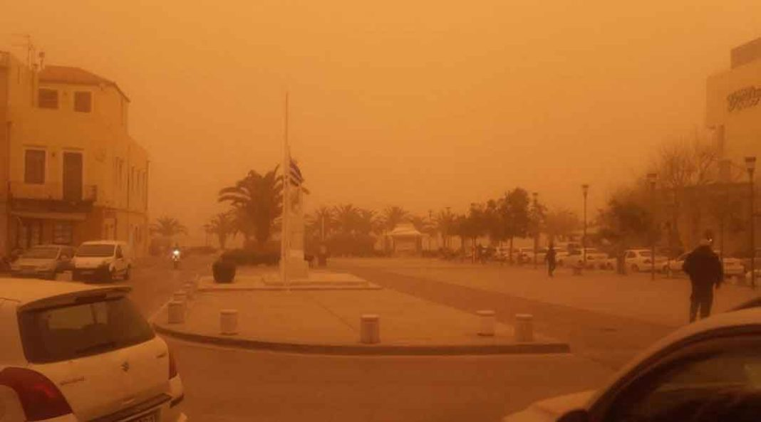 Καιρός: Θα «πνιγούμε» από την αφρικανική σκόνη τη Μ. Τετάρτη -Ανοδος θερμοκρασίας