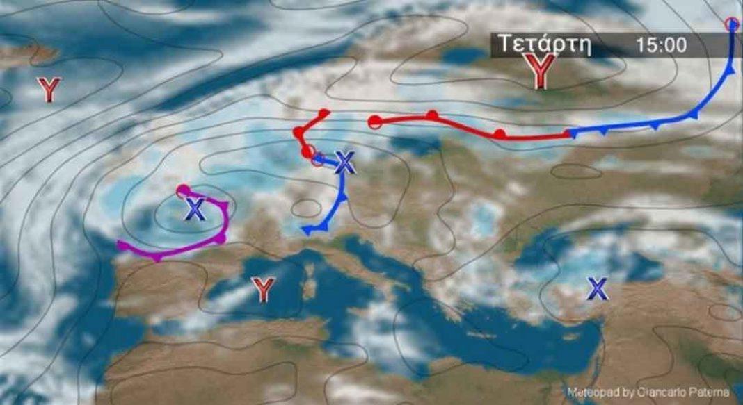 καιρός.Αναλυτικά η πρόγνωση του καιρού από τον Θοδωρή Κολυδά - Πού θα εκδηλωθούν βροχές και καταιγίδες.