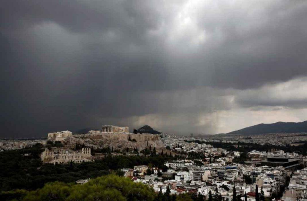 Άστατος ο καιρός στην Αττική από το μεσημέρι της Δευτέρας 17 Ιουνίου, με βροχές να παρατηρούνται σε αρκετά