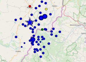 Καστοριά Υπενθυμίζεται ότι ότι η σεισμική δραστηριότητα ξεκίνησε στις 07:26 το πρωί του Σαββάτου
