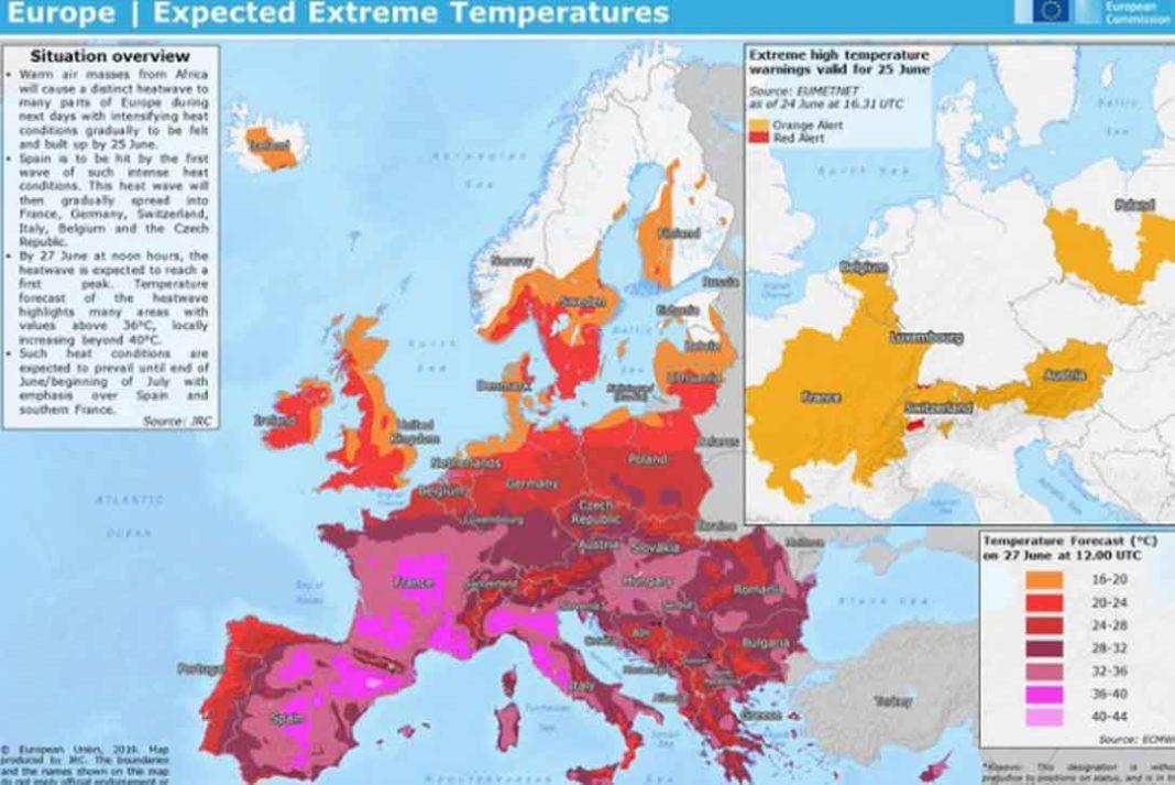Με τη φράση «έρχεται η κόλαση» αναφέρονται οι μετεωρολόγοι της Ευρώπης στο κύμα καύσωνα που θα συνεχίσει, τις προσεχείς ημέρες