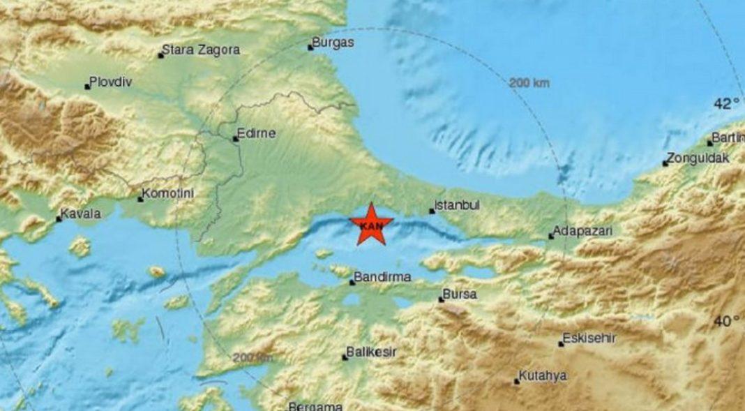 Σεισμός σημειώθηκε το πρωί της Τρίτης στην Κωνσταντινούπολη. Ο σεισμός είχε μέγεθος