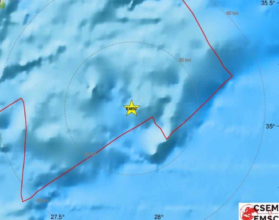 Σεισμός Τώρα:Καρπάθου και νότια της Ρόδου Σεισμική δόνηση μεγέθους 4,4 βαθμών της κλίμακας Ρίχτερ (σύμφωνα με την αυτόματη λύση του Ευρωπαϊκού