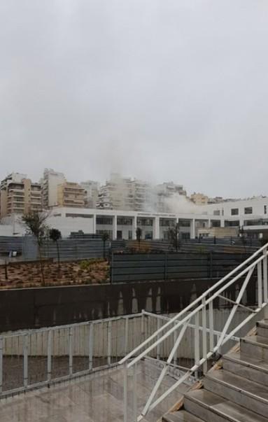 ΤΩΡΑ: Φωτιά στο Νεόδμητο κτίριο του Ειρηνοδικείου Αθηνών