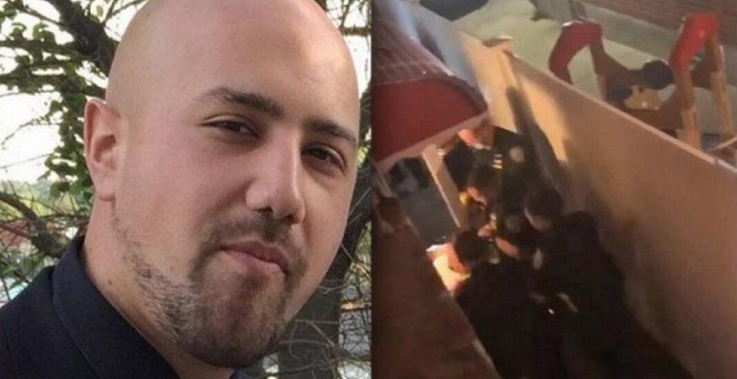 Γιώργου Ζαπάντη, που έπεσε θύμα αστυνομικής βίας στο Κουίνς της Νέας Υόρκης Ο νεαρός έπεσε στην αυλή του σπιτιού του μετά από χτυπήματα με τέιζερ