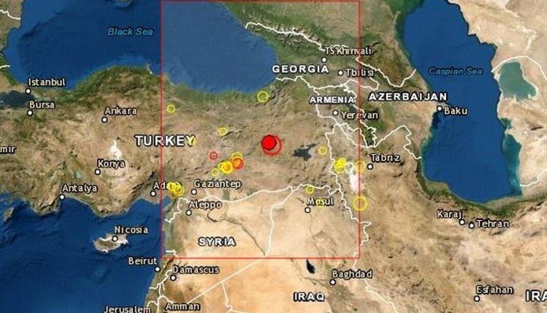 Σεισμός 5,9 Ρίχτερ σημειώθηκε στην Τουρκία.