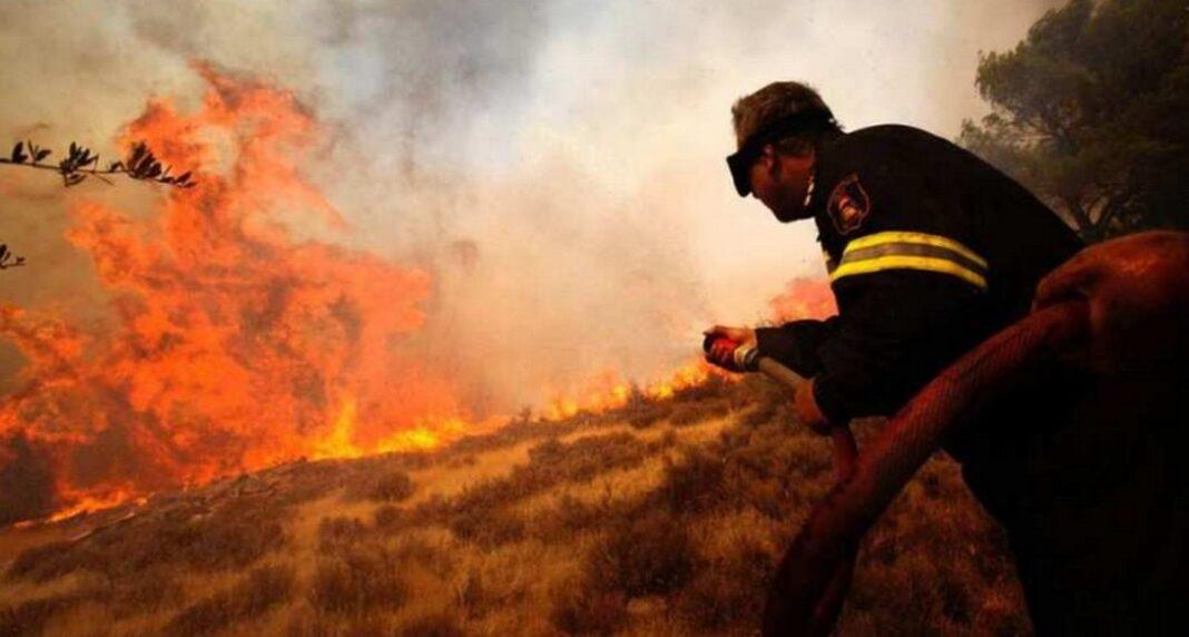 Φωτιά τώρα στο Ναύπλιο