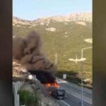 Φωτιά σε λεωφορείο του ΚΤΕΛ με 39 επιβάτες! (Video)
