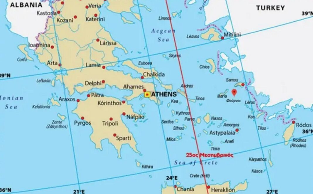 25ος μεσημβρινός: Το σχέδιο της Άγκυρας για την de facto διχοτόμηση του Αιγαίου