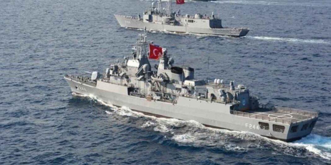 Άγκυρα, με τουρκικά πολεμικά πλοία να έχουν αναπτυχθεί σε θαλάσσια περιοχή μεταξύ Καστελόριζου-Ρόδου και Καρπάθου.