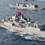 Tουρκικά πολεμικά πλοία μεταξύ Καστελόριζου-Ρόδου και Καρπάθου.