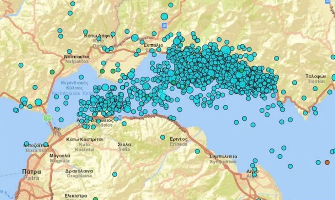 Χουλιάρας: 1.500 σεισμοί σε δύο μήνες στον δυτικό Κορινθιακό Κόλπο