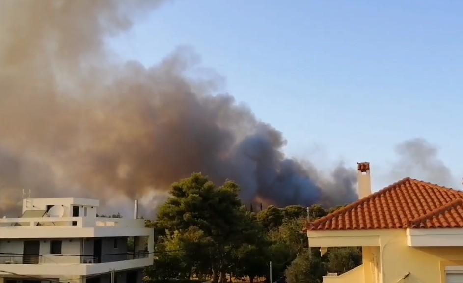 Εκτός ελέγχου η πυρκαγιά στη Βαρυμπόμπη- 4video αναγνώστης του paradrasi.gr