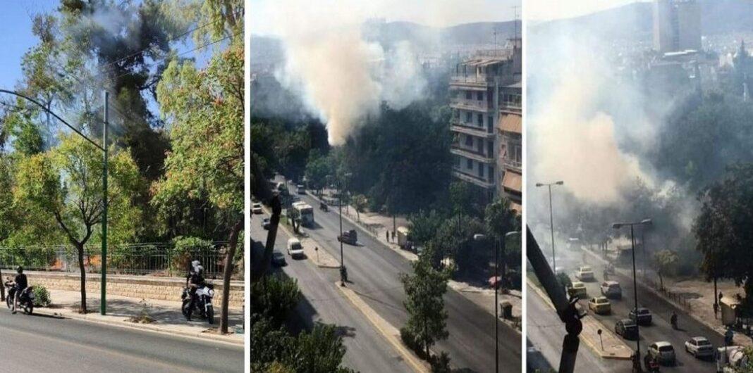 Αθήνα: Φωτιά δίπλα στο Πεδίον του Άρεως