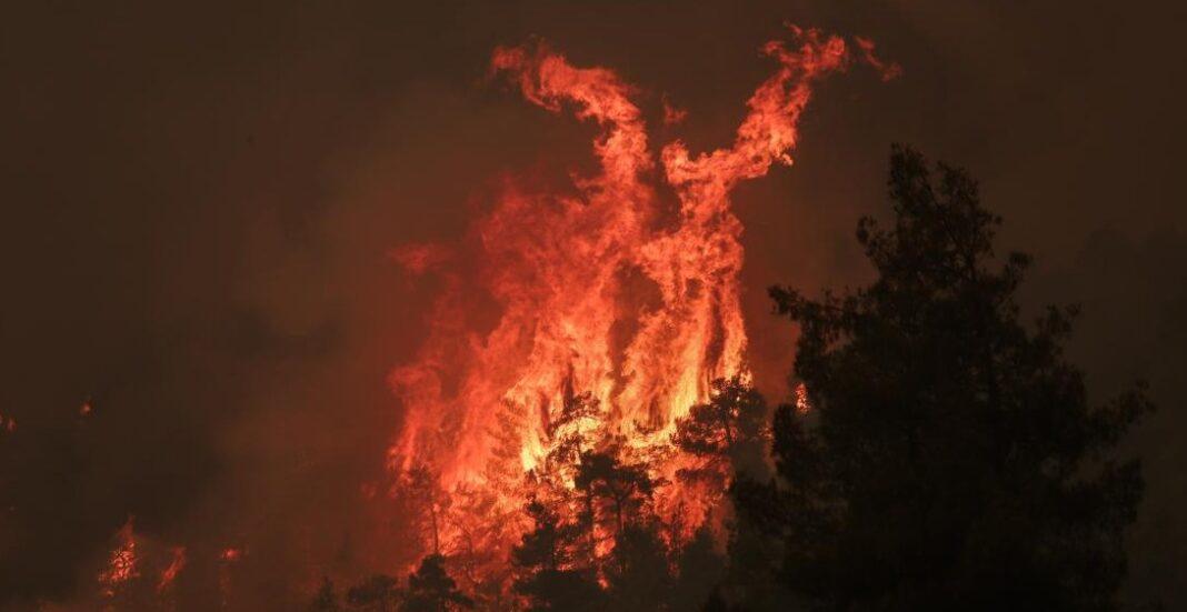 Ολοκαύτωμα στην Β. Εύβοια- Κυκλωμένα χωριά από τις φλόγες