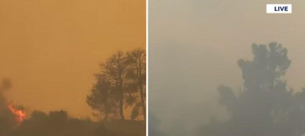 Πληροφορίες για εγκλωβισμένους στη φωτιά της Αρχαίας Ολυμπίας – Καίγονται σπίτια (video)
